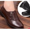 春秋中老年妈妈鞋真皮女鞋平跟软底舒适大码皮鞋平底防滑老人单鞋